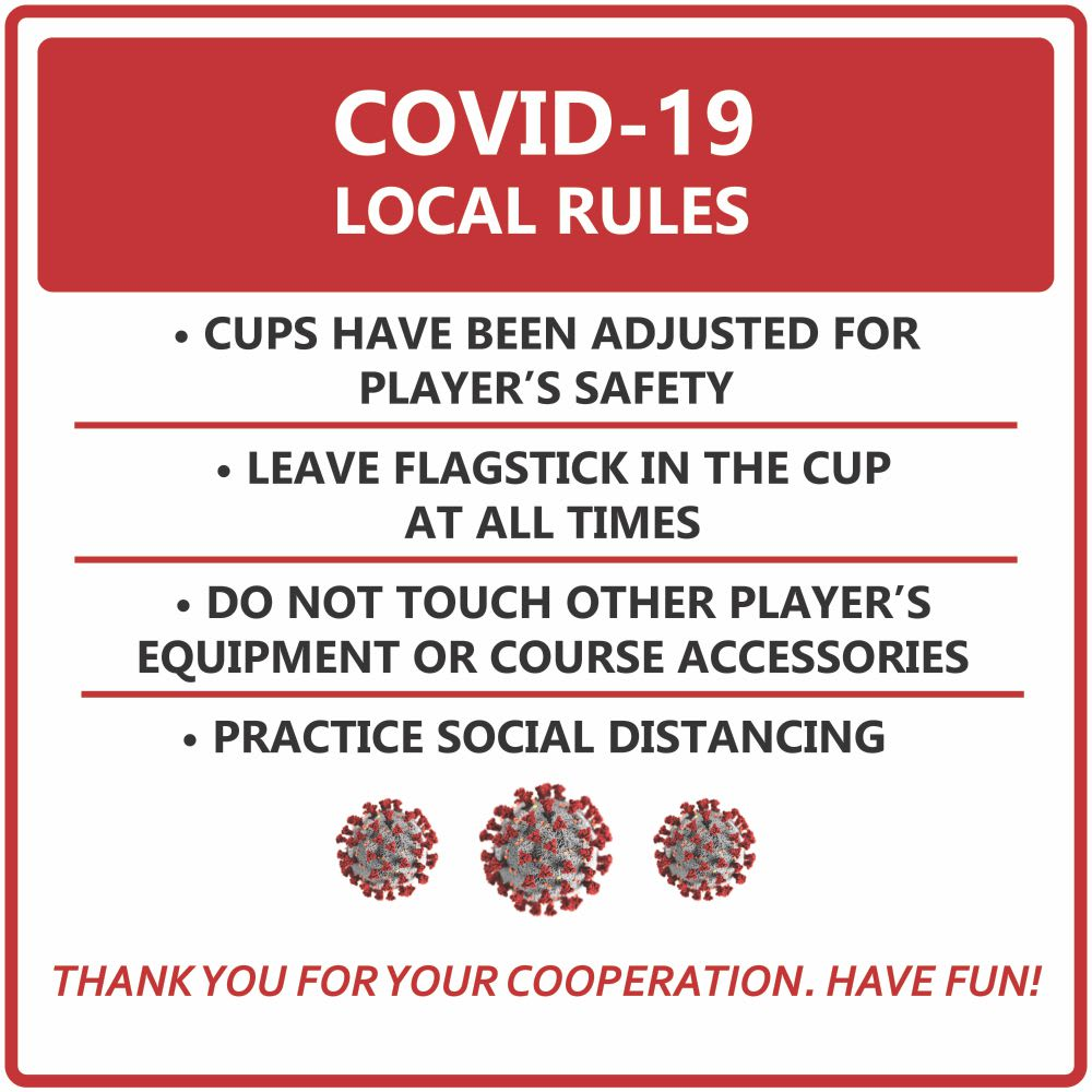 covid safety sign golf