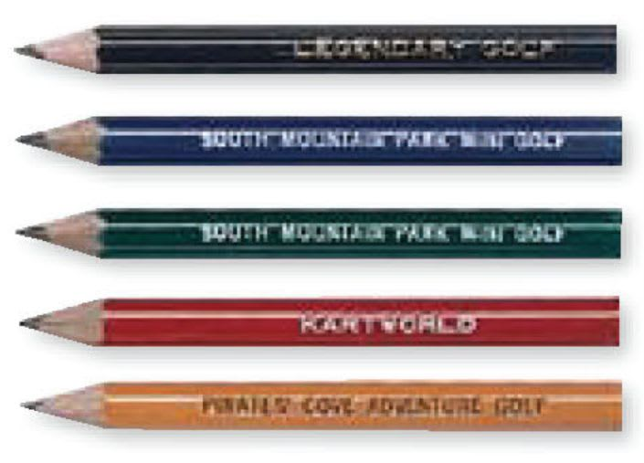 Custom miniature golf pencils