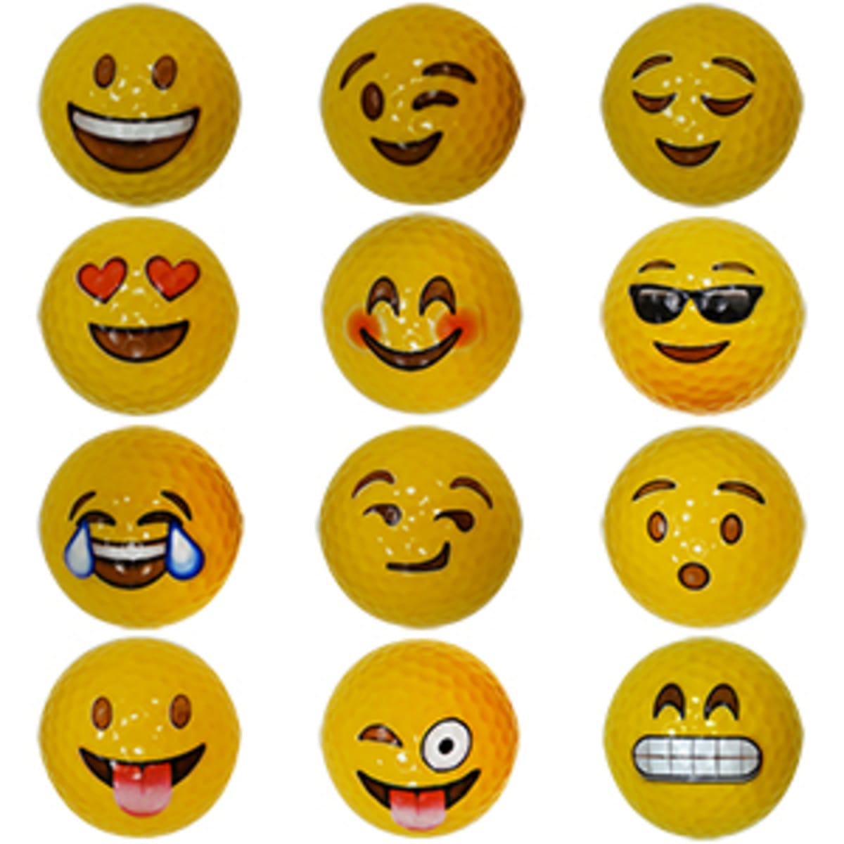 Emoji novelty golf balls - assorted