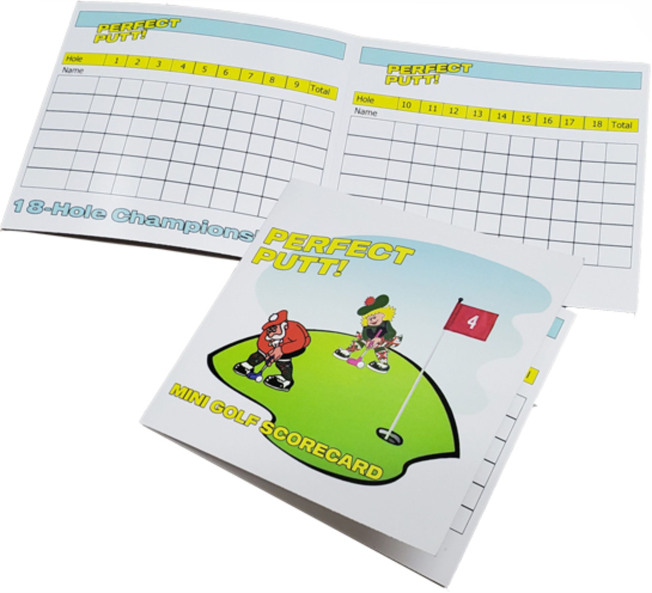 mini golf score cards