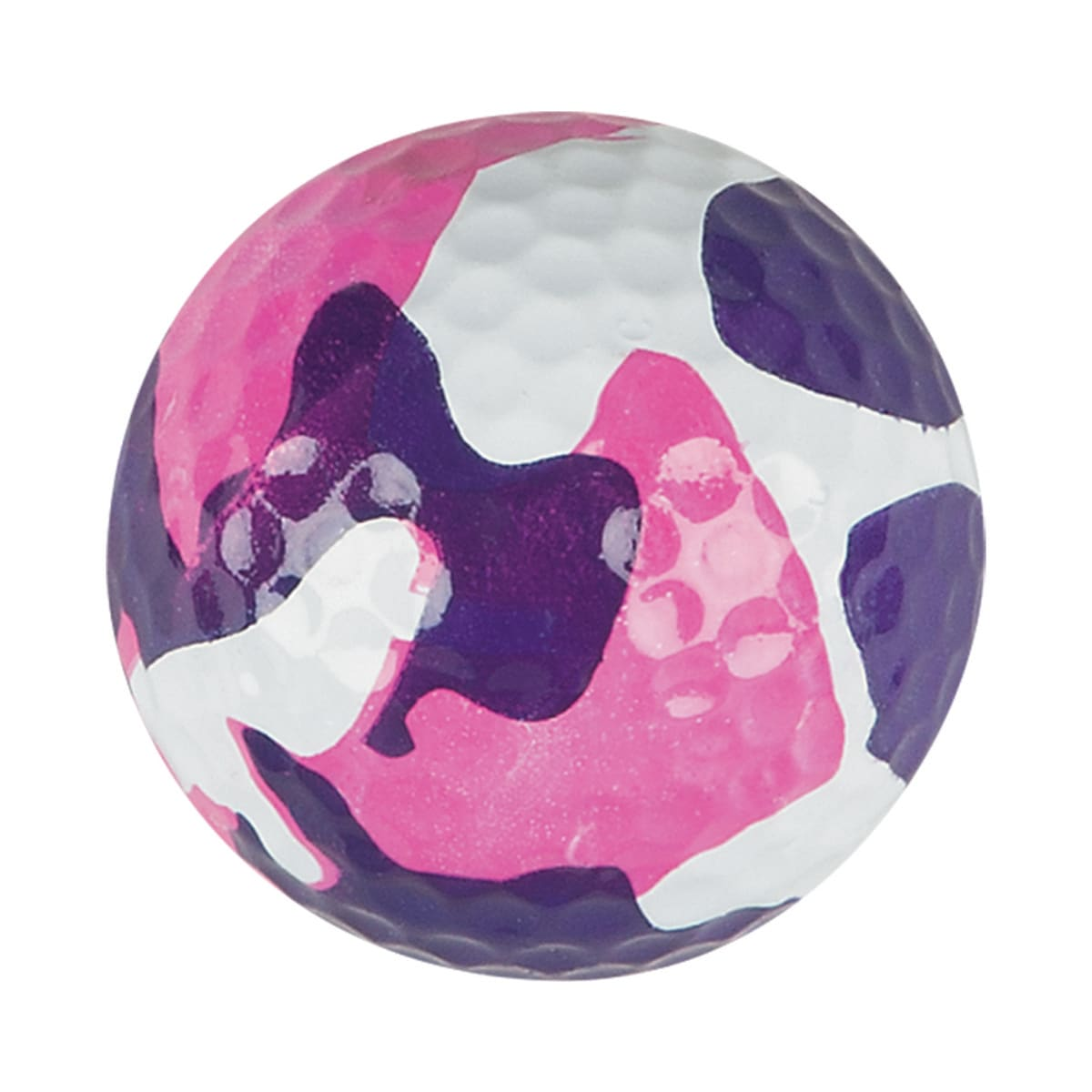 pink camouflage golf ball