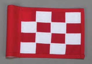 red white checkered putting flag