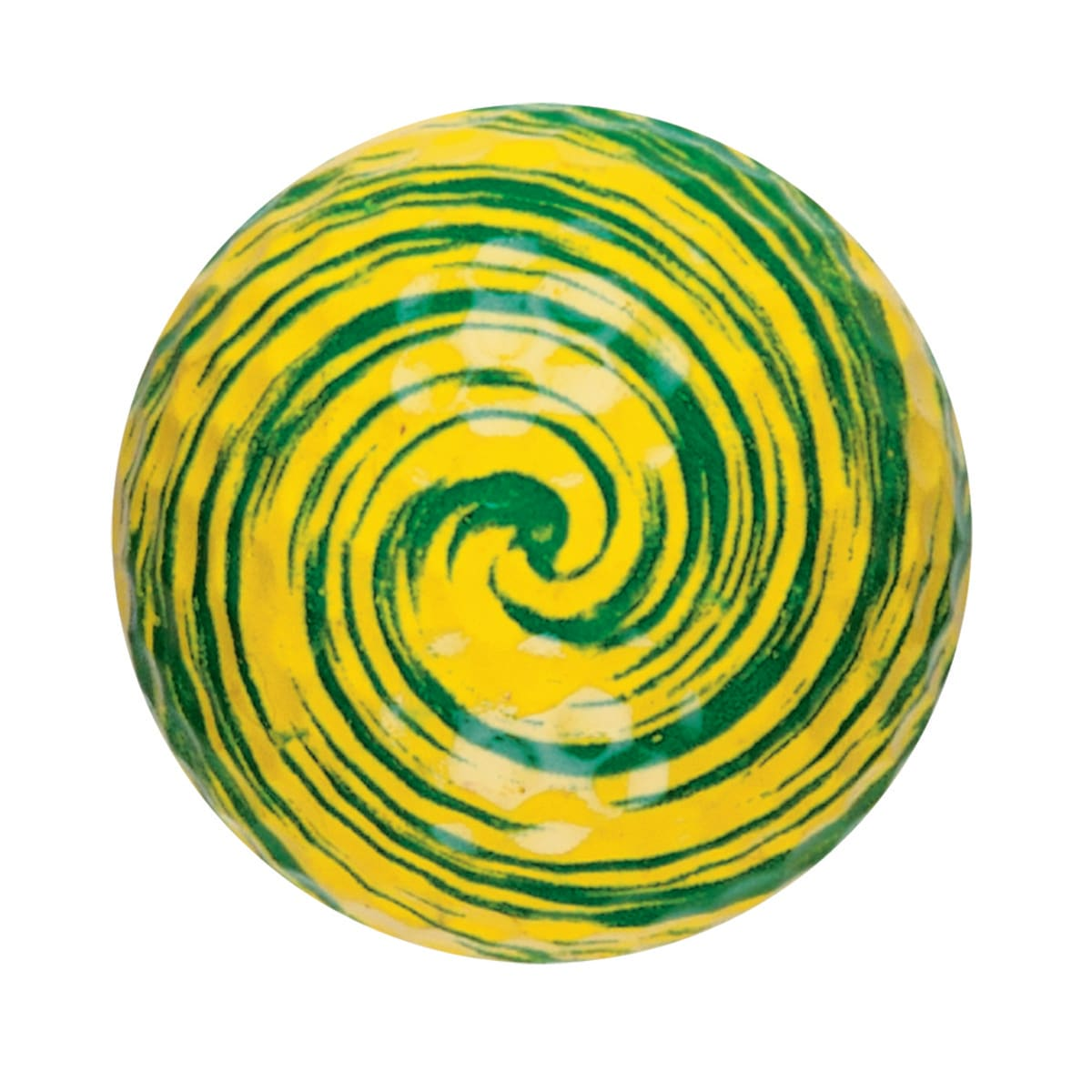 yellow green swirl mini-putt ball